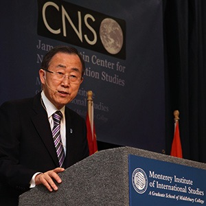 Ban Ki-Moon Speaking at the Monterey Institute