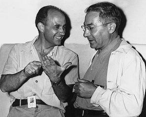 Enrico Fermi and Isidore Rabi at the Manhattan Project