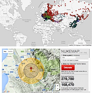 Nukewatch Nuclear Flashpoints NATORussia - Nuclear map us