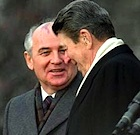 Gorbachev and Reagan at Reykjavik, 1986