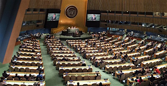 historic UN resolution to work on nuclear weapons ban