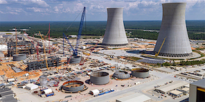 Two new AP1000 units being added to Georgia Power's Plant Vogtle nuclear station located near Waynesboro, Ga