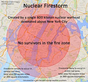 nuclear firestorm Manhattan