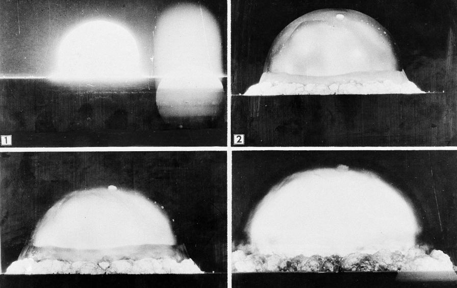 The first atomic bomb test was conducted at Alamogordo, New Mexico, July 16, 1945. (AP / US Army)